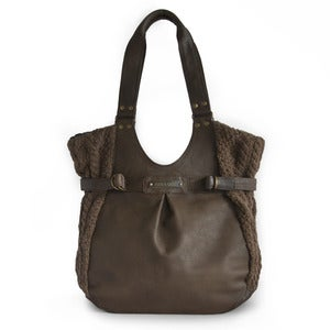 Image of Tab Shopper Bag&lt;br /&gt;in Leather/Banana Yarn