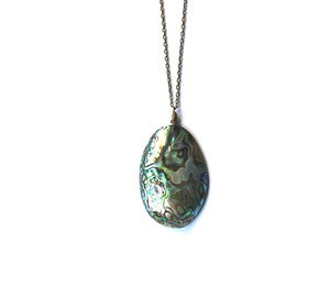 Image of Abalone Shell & Brass Necklace