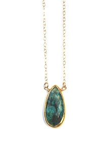 Image of Chrysocolla Gemstone Necklace