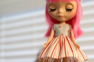 Image of Blythe dress- mushroom