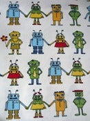 Image of Robots organic cotton jersey (by the half metre)