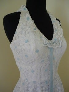 Image of daisy lace halter maxi dress
