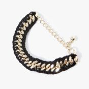 Image of Knit Wrapped Chain Bracelet