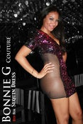 Image of NEW!! Mashonda SEQUIN DRESS FULL Sequin Mid-Sleeves