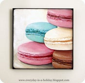 Image of Instagram inspired wood mounted print Macarons #1