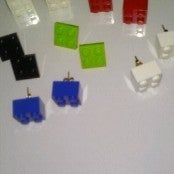 Image of Lego Earrings-blocks