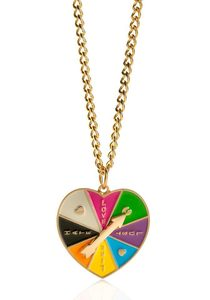 Image of Love-o-meter heart spinner necklace