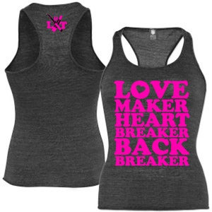 "Image of ""Love Maker"" Woman's Racerback Tanks"