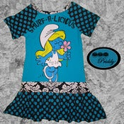 Image of ** SOLD OUT** Smurfette Smurf-a-licious Dress - Size 7/8
