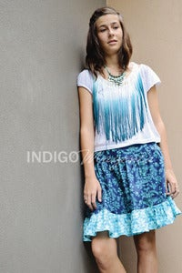 Image of Ladies Midnight Garden Tea Skirt