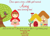 Image of Little Red Riding Hood Invitation