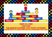 Image of Lego Party Invitation
