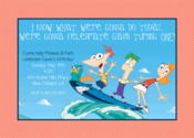 Image of Phineas & Ferb Invitation
