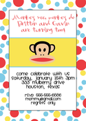 Image of Paul Frank Monkey Invitation