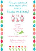 Image of Easter Birthday Invitation