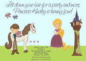 Image of Rapunzel (Tangled) Invitation