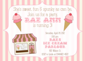 Image of Ice Cream Parlour Invitation