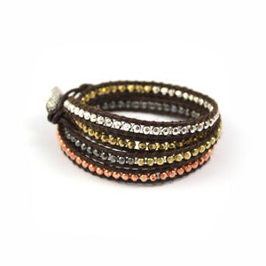 Image of RUMOR Leather Wrap Bracelet
