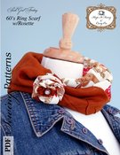 Image of 60's Ring Scarf with Rosette Pattern - PDF pattern - Instant Download