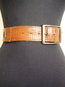 Image of Levi's denim & leather belt