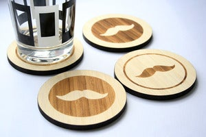 Image of moustache coasters