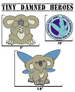 Image of Tiny Damned Heroes Pin Pack