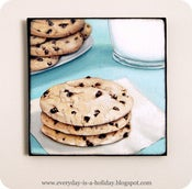 Image of Instagram inspired wood mounted print Chocolate Chip Cookies