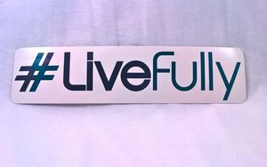 Image of #LiveFully bumper sticker