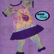 Image of **SOLD OUT** Rapunzel Dress w/ Leggings - Size 4T/5T & Fight Like a Woman Dress