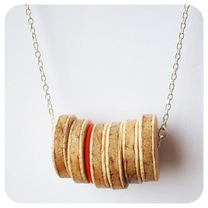 Image of Wooden Disc Necklace