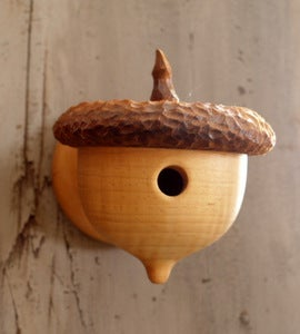 Image of Acorn Birdhouse, rustic woodland look