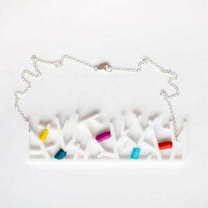Image of Forest Necklace in White