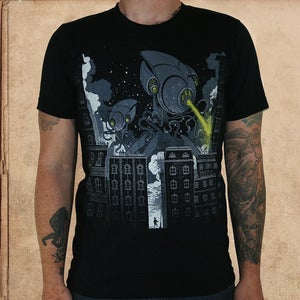 Image of War of the Worlds - discharge ink - unisex