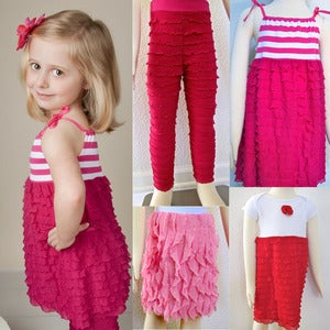 Image of How to Sew Ruffle Fabric Dresses, Leggings, Skirts and more
