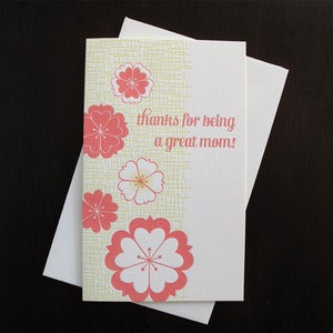 Image of 1701 - blossom letterpress card for mom