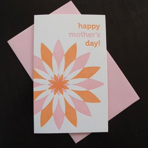 Image of 1703 - dahlia letterpress mother's day card