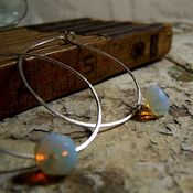 Image of Hoops- Silver, Snow