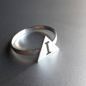 Image of Custom Initial - Handmade Silver Ring