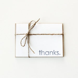 Image of Thanks Folded Card