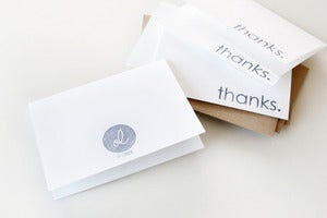 Image of Thanks Folded Cards (Set of 5)