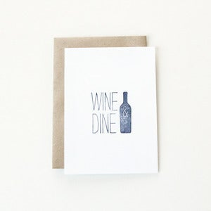 Image of Wine &amp; Dine Note Card