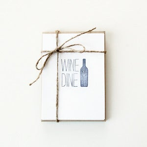 Image of Wine &amp; Dine Note Cards (Set of 5)
