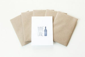 Image of Wine & Dine Note Cards (Set of 5)