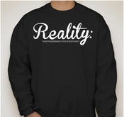 Image of Reality:Cursive Crew Neck Sweatshirt