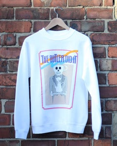 Image of The Butler Did It | White Sweatshirt