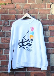 Image of Sun & Sail | White Sweatshirt