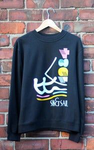 Image of Sun & Sail | Black Sweatshirt