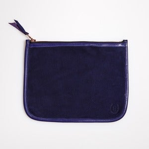 Image of NECESSAIRE-Navy & Purple