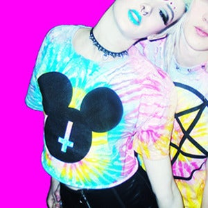 Image of TIE DYE MOUSE CLUB CROP TOP