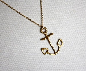 Image of Brass Anchor Necklace